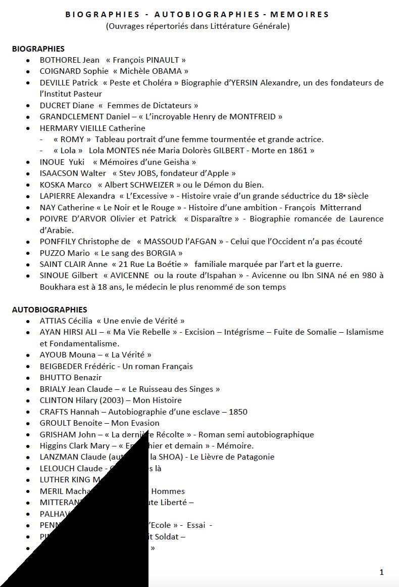 Bibliographies1